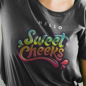 Free Female model tshirt mockup closeup V2